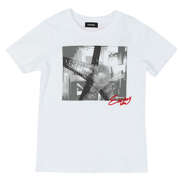 Diesel Boys White Boys Tangix T Shirt