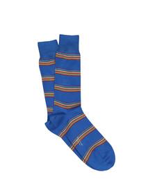 Paul Smith Mens Blue Multi Block Stripe Sock