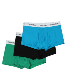 Calvin Klein Mens Black 3 Pack Trunks