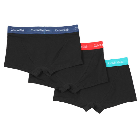 Calvin Klein Mens Black 3 Pack Low Rise Trunk main image