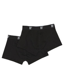 Eleven Degrees Mens Black Twin Pack Boxer