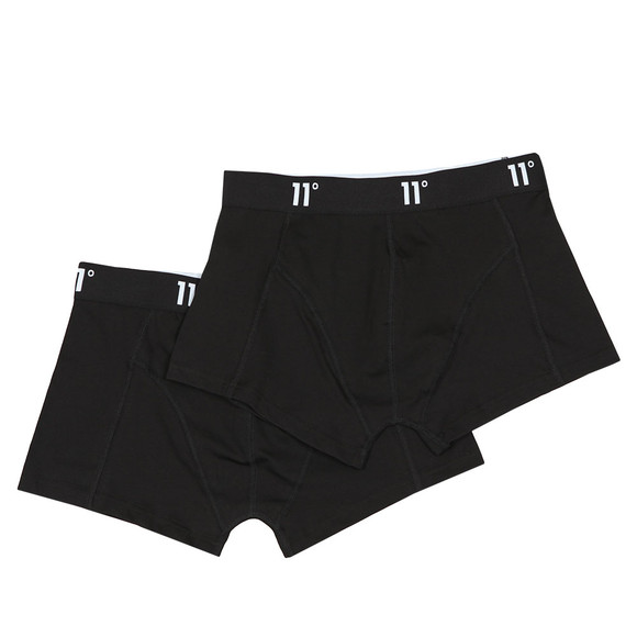 Eleven Degrees Mens Black Twin Pack Boxer main image