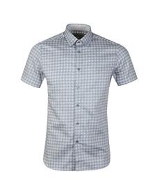 Ted Baker Mens Blue S/S Dot Circle Shirt