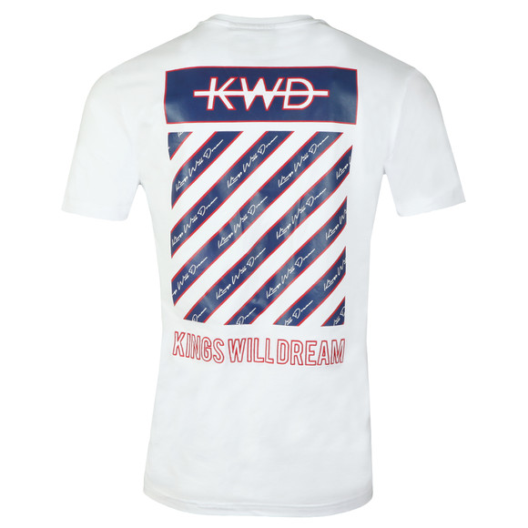 Kings Will Dream Mens White Follmar Chevron Tee  main image