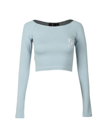 Gym king Womens Blue Florence Long Sleeve Crop Top