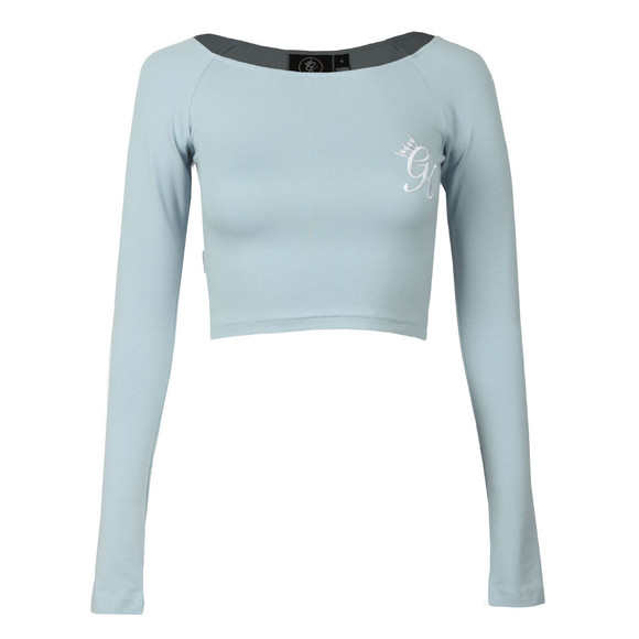 Gym King Womens Blue Florence Long Sleeve Crop Top main image