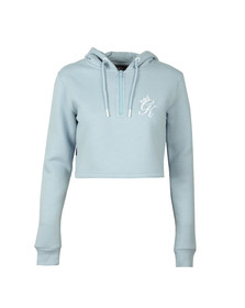 Gym king Womens Blue Kady Crop Hoody