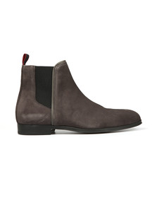 HUGO Mens Grey Boheme Suede Chelsea Boot