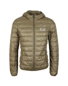 EA7 Emporio Armani Mens Stone Grey Train Core ID Light Down Jacket