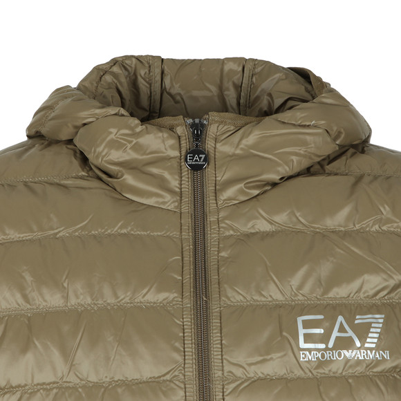 EA7 Emporio Armani Mens Grey Train Core ID Light Down Jacket main image