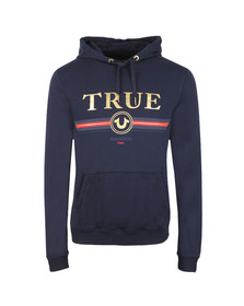 True Religion Mens Blue Gold True Overhead Hoody