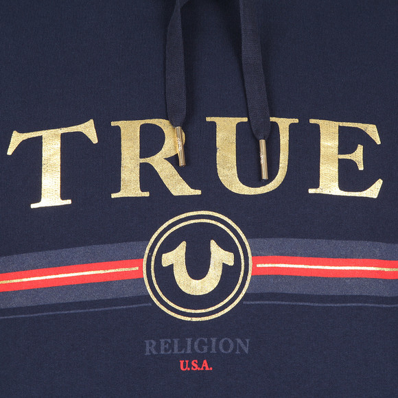True Religion Mens Blue Gold True Overhead Hoody main image