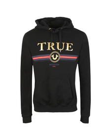 True Religion Mens Black Gold True Overhead Hoody