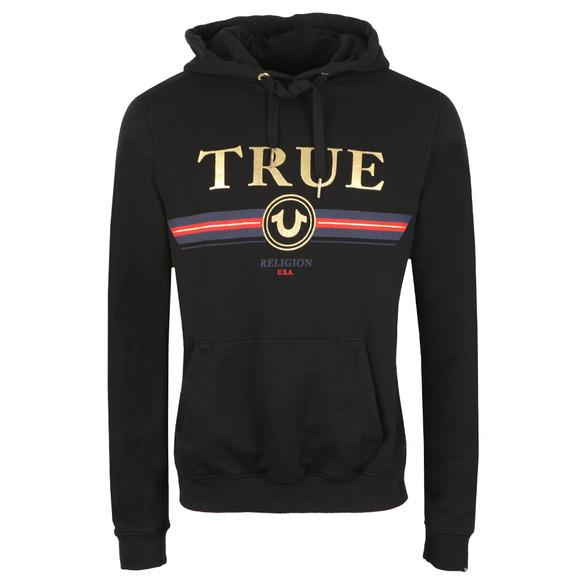 True Religion Mens Black Gold True Overhead Hoody main image