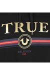 True Religion Mens Black Gold True Overhead Hoody