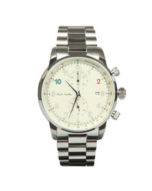 Paul Smith Mens Off-white Block Chrono 42.5mm Watch