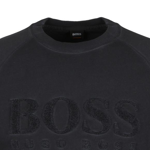 BOSS Casualwear Mens Blue Wayman Sweatshirt main image