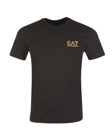 EA7 Emporio Armani Mens Black 6ZPT51 Small Logo T Shirt