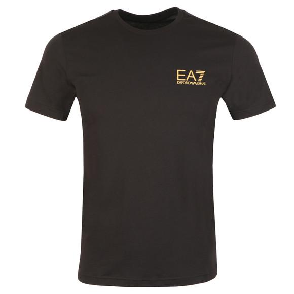 EA7 Emporio Armani Mens Black 6ZPT51 Small Logo T Shirt main image