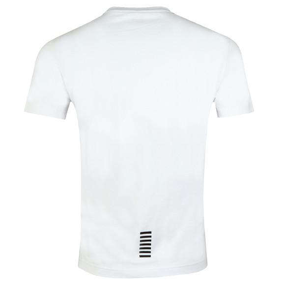 EA7 Emporio Armani Mens White 6ZPT51 Small Logo T Shirt main image
