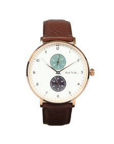 Paul Smith Mens White Track Design 42mm Watch