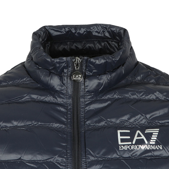 EA7 Emporio Armani Mens Blue Small Logo Down Gilet main image