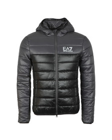 EA7 Emporio Armani Mens Black Colour Block Down Jacket