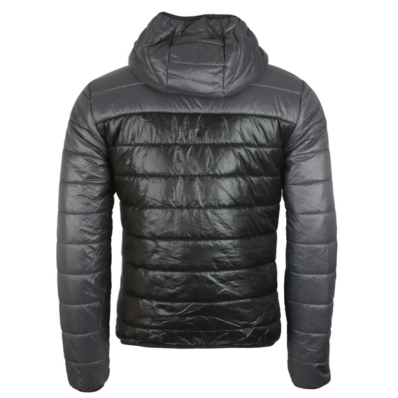 EA7 Emporio Armani Mens Black Colour Block Down Jacket main image