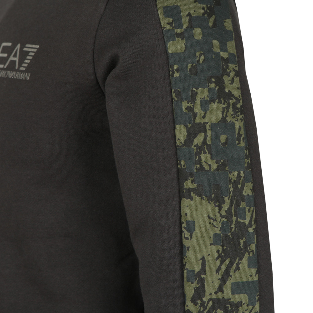 Camo Piped Sleeve Sweatshirt main image