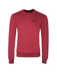 EA7 Emporio Armani Mens Red Small Logo Crew Sweatshirt