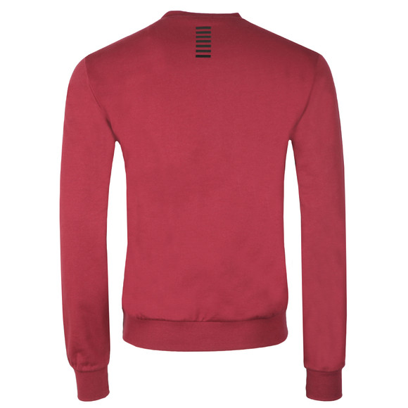 EA7 Emporio Armani Mens Red Small Logo Crew Sweatshirt main image