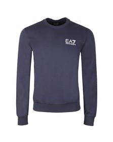 EA7 Emporio Armani Mens Blue Small Logo Crew Sweatshirt