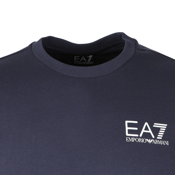 EA7 Emporio Armani Mens Blue Small Logo Crew Sweatshirt main image