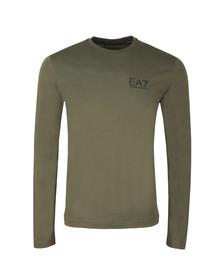 EA7 Emporio Armani Mens Green Small Logo Long Sleeve T Shirt