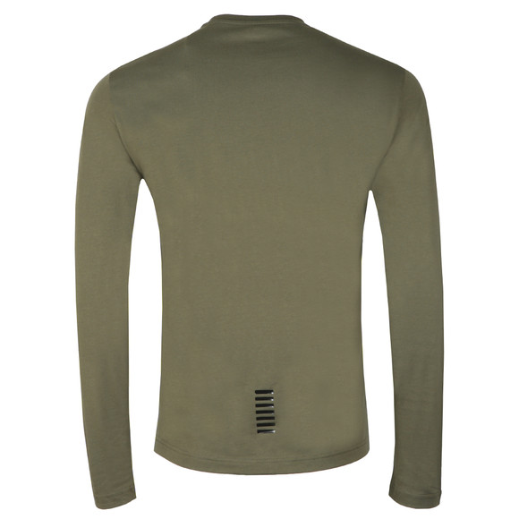 EA7 Emporio Armani Mens Green Small Logo Long Sleeve T Shirt main image