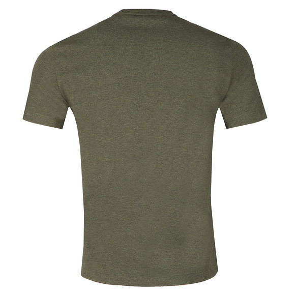 EA7 Emporio Armani Mens Green Large Chest Logo T-Shirt main image
