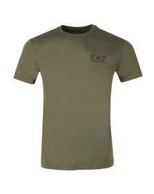EA7 Emporio Armani Mens Green 6ZPT51 Small Logo T Shirt