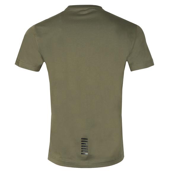 EA7 Emporio Armani Mens Green 6ZPT51 Small Logo T Shirt main image