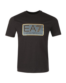 EA7 Emporio Armani Mens Black Large Box Logo T Shirt