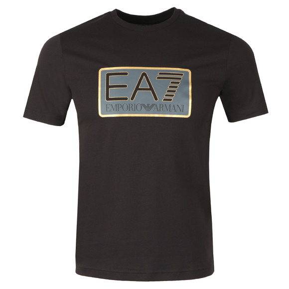 EA7 Emporio Armani Mens Black Large Box Logo T Shirt main image