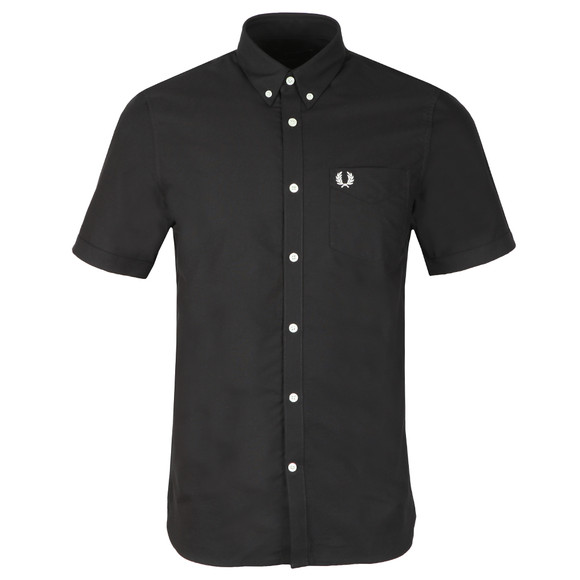 Fred Perry Mens Black Classic Oxford S/S Shirt main image