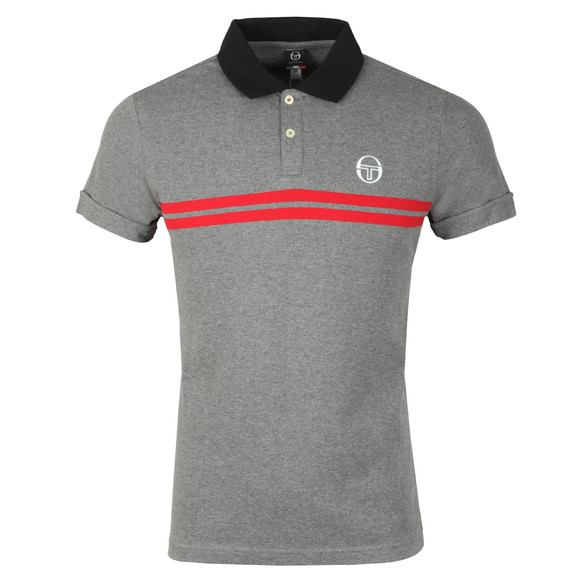 Sergio Tacchini Mens Grey S/S Supermac Polo main image