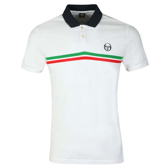 Sergio Tacchini Mens White S/S Supermac Polo main image
