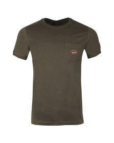 Paul & Shark Mens Green Shark Fit Pocket T Shirt