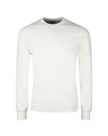 C.P. Company Mens Off-white Chest Logo Sweatshirt