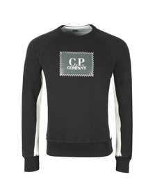 C.P. Company Mens Black Stamp Logo Sweatshirt