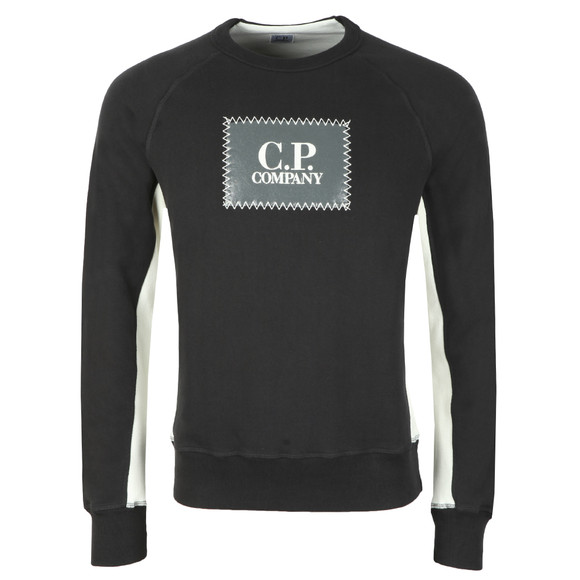 C.P. Company Mens Black Stamp Logo Sweatshirt main image
