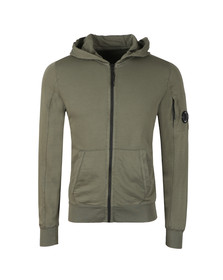 C.P. Company Mens Green Lightweight Full Zip Hoody