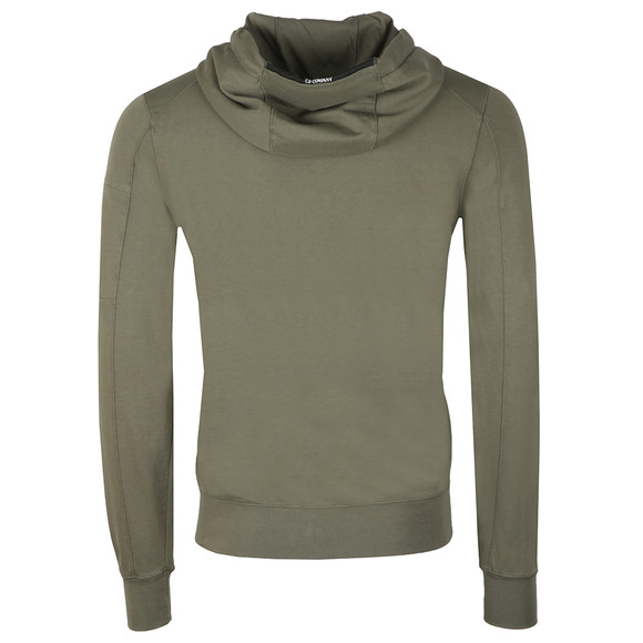 C.P. Company Mens Green Lightweight Full Zip Hoody main image