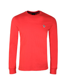 PS Paul Smith Mens Red L/S Zebra Tee